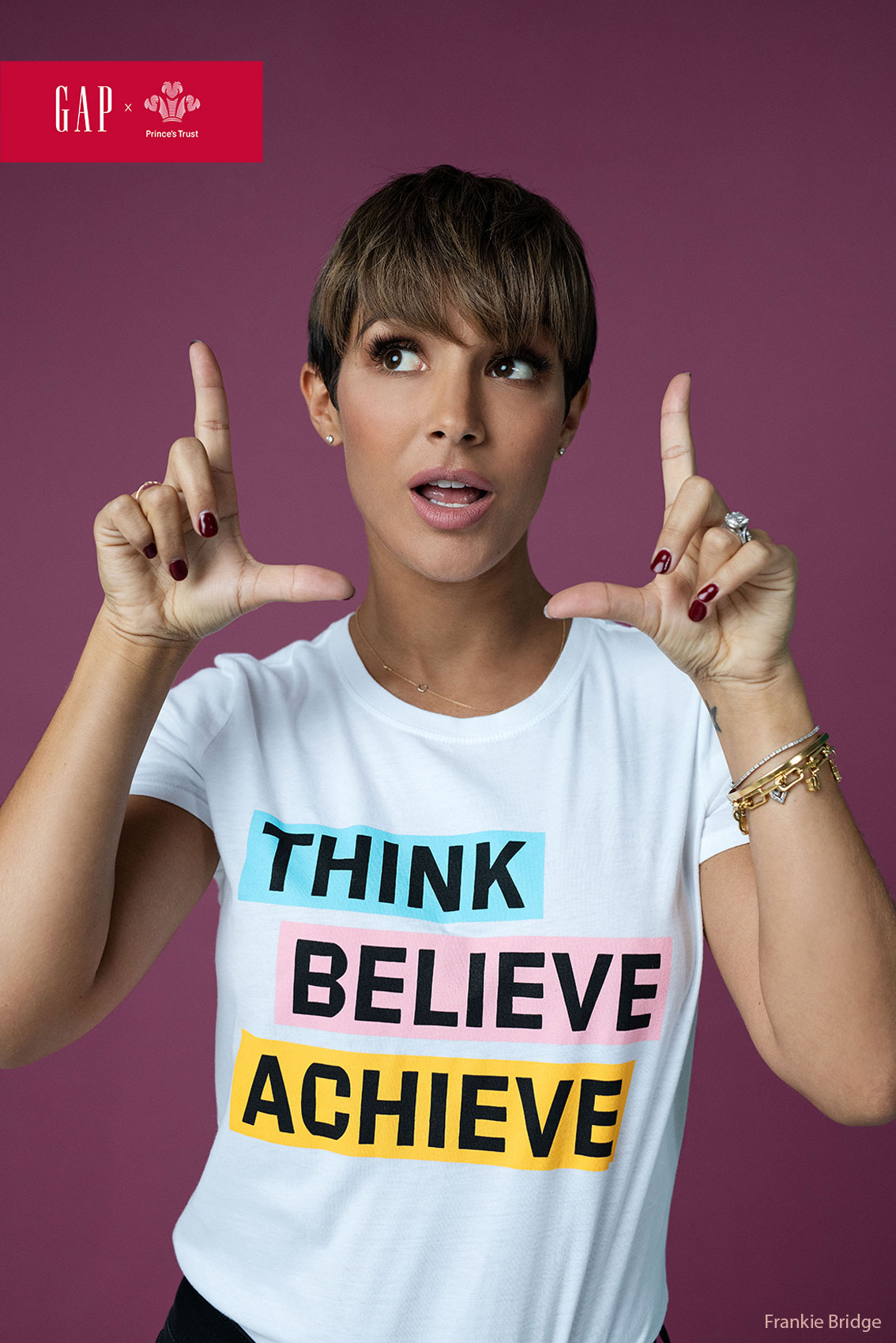 Frankie Bridge celebrity portrait commercial